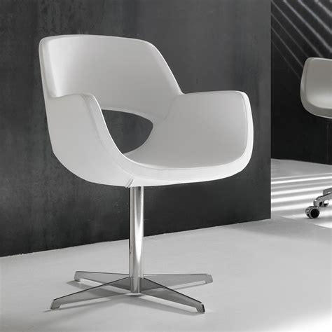 chaise de bureau en cuir chaise de bureau blanche en simil cuir