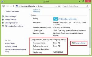 Changing Windows 8 Computer Name and Workgroup