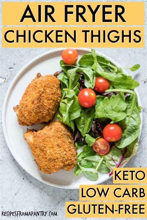 air fryer chicken thighs tutorial keto gluten