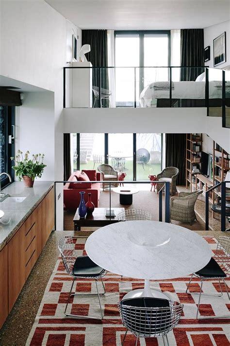 open plan with mezzanines small house design floor plan