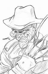 Freddy Krueger Nightmare Elm Street Drawing Pages Colouring Deviantart Case Getdrawings Again Bar Looking Don sketch template