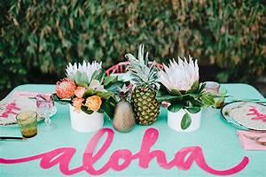 Deco Table Tropical : une inspiration party exotique aloha mademoiselle claudine le blog ~ Teatrodelosmanantiales.com Idées de Décoration