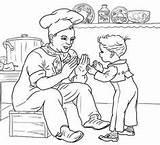 Pat Cake Coloring Nursery Printable Rhymes Rhyme Mother Goose sketch template