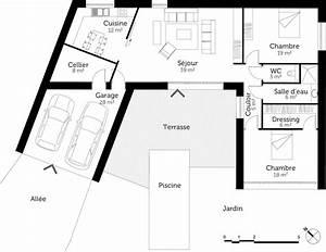 Plan Maison U : plan maison en u contemporaine ooreka ~ Dallasstarsshop.com Idées de Décoration