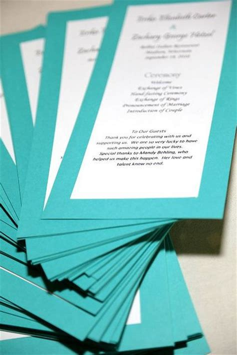 page wedding program template wedding programs