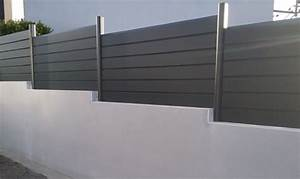 Carte Grise Muret : cool palissade aluminium gris anthracite sur muret en redans avec enduit gris prestation sur ~ Medecine-chirurgie-esthetiques.com Avis de Voitures