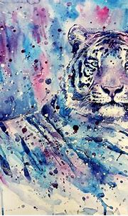 white Tigers, Tiger, Artwork, Painting, Watercolor, Blue ...