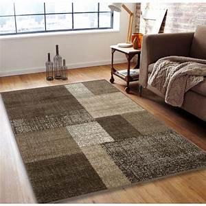 Tapis Beige Salon : tapis patchwork design couleur beige 120x170cm ~ Teatrodelosmanantiales.com Idées de Décoration