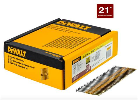 dewalt 2 3 8 x 113 inch framing nail gun nailer 2000 galvanized nails 21 degree 885911430425 ebay