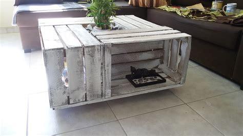 table basse en caisse de bois c 233 rus 233 es meubles et rangements par l insolite