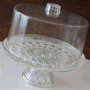 pedestal cake stand cake stand cut glass cake plate plastic cover birthday shabby