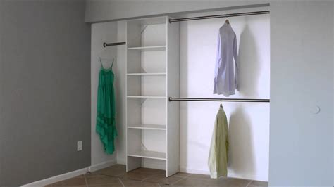 Closet Shelving Heights by What Is The Standard Double Closet Rod Height Youtube