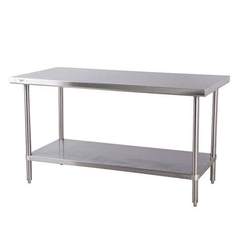 stainless steel table l regency 16 gauge all stainless steel commercial work table