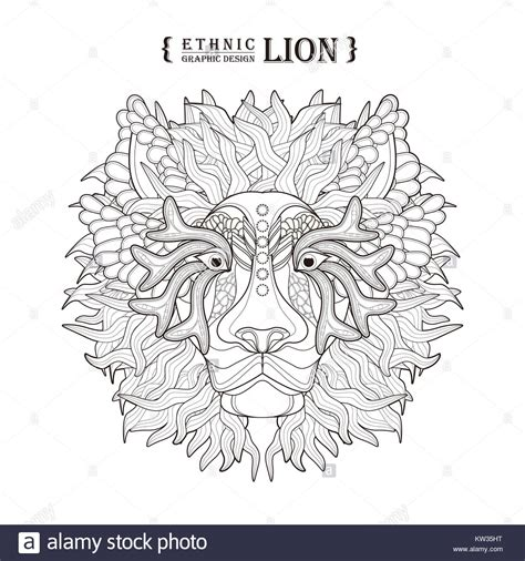 Sketch Of Lion Head Stock Photos Sketch Of Lion Head