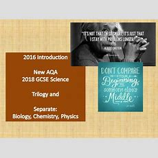 Aqa New Science Gcse Overview (trilogy Vs Separate Science) By Thomastallissciencedepartment