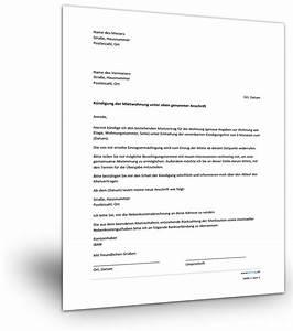 Gesetzliche Kündigung Mietvertrag : musterk ndigung mietwohnung ~ A.2002-acura-tl-radio.info Haus und Dekorationen