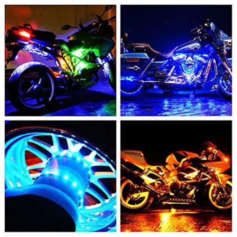 black light underglow axglow 12pc universal million color motorcycle led lights