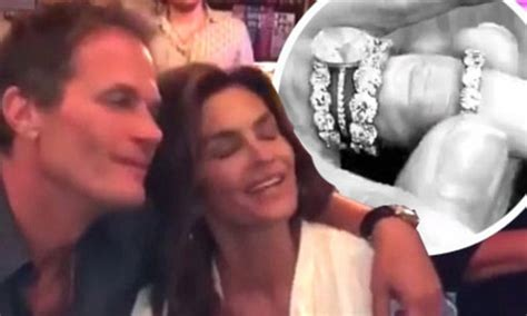 Cindy Crawford Shows Massive Diamond Rings To Son Presley