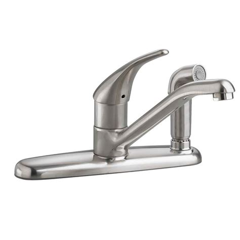 single kitchen faucet with sprayer standard arch single handle standard kitchen