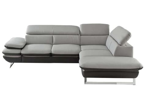 canapé gris conforama canapé d 39 angle fixe droit 5 places prestige coloris gris