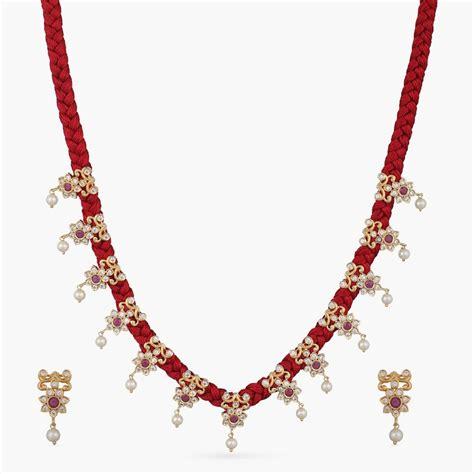Svara Nakshatra CZ Necklace Set | Indian Necklace Set Online - Tarinika