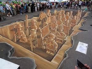 3d Street Art Sarasota - Leon Keer An Optical Illusion