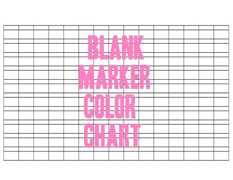 blank marker color chart  otomezakideviantartcom