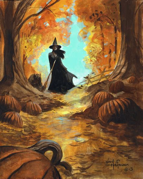 halloween canvas image  phoenix lefae  witchy scary