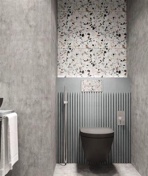 bathroom makeover  terrazzo walls terrazzo modern