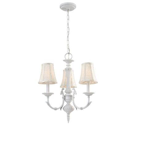 hton bay laurel collection 3 light rustic white