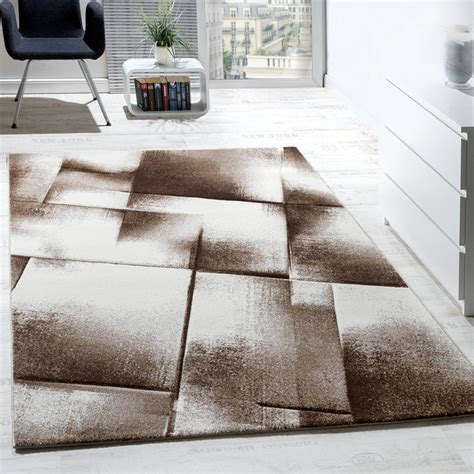 tapis design moderne salon tapis poils ras chine brun