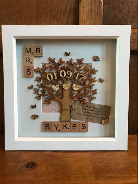 Wedding Personalised Mr & Mrs Scrabble Box Frame. Handmade ...
