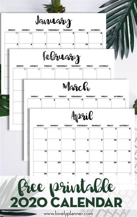 calendar printable  template  printable