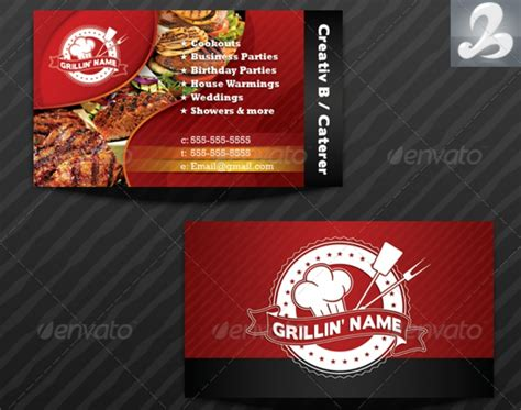 catering visiting card templates 34 exles of best business cards in word psd eps