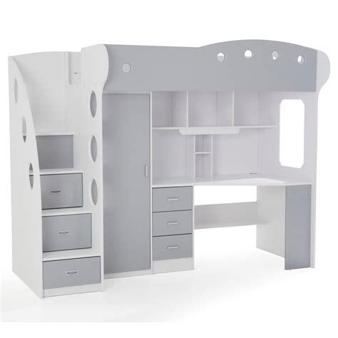 lit bureau combiné lit enfant avec rangement 4 l001bme3083483 0101