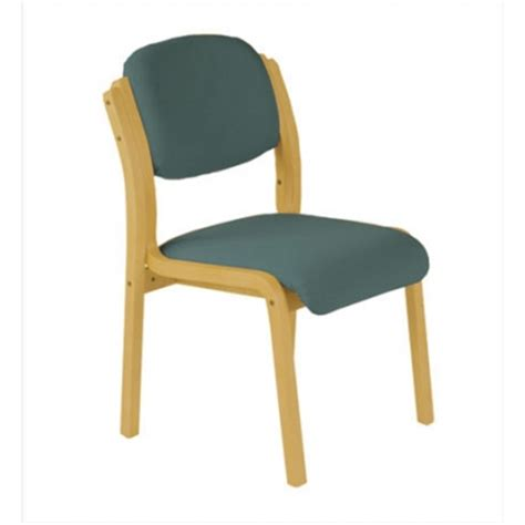 doherty flex wood waiting room chair without arms seat w