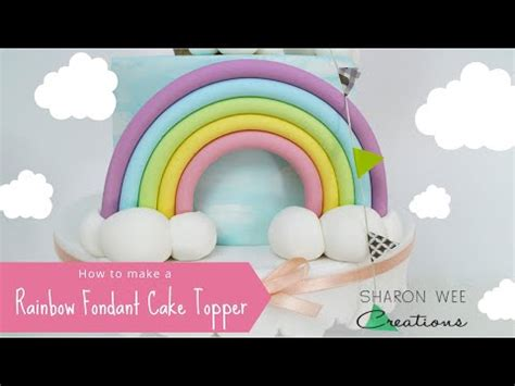 learn  sharon wee rainbow  clouds topper youtube