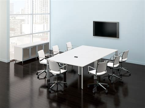 white modern conference tables ambience dor 233