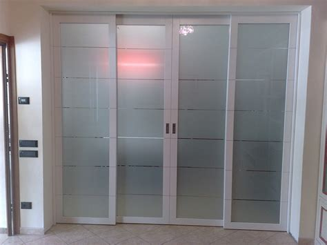 Porte D Ingresso In Alluminio E Vetro by Porta Scorrevole A 4 Ante In Vetro E Alluminio