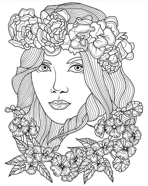 beautiful faces coloring page colorish app