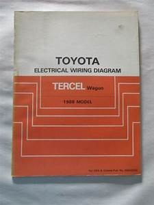 1988 Toyota Tercel Wagon Electrical Wiring Diagram Manual