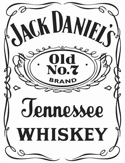 Jack Daniels Svg Label Bottle Silhouette Whisky