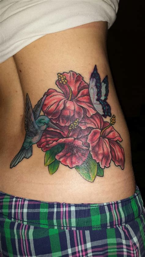 Hummingbird Cover Up Tattoo by Love My Tattoo Artist Coverup Hibiscus Hummingbird