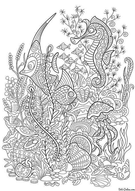 sea coloring pages  adults images