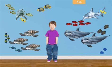 wandgestaltung kinderzimmer unterwasserwelt wandsticker unterwasserwelt komplettset unterwasserwelt