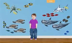 Wandtattoo Unterwasserwelt Kinderzimmer : walls of the wild riesen wandsticker wandtattoo unterwasserwelt fische delfine komplettset www ~ Sanjose-hotels-ca.com Haus und Dekorationen