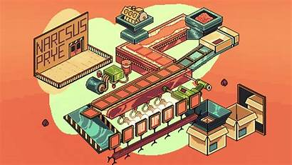 Pixel Cool Factory Line Gifs End Isometric
