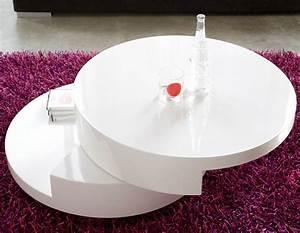 Table Basse Ronde Blanc Laqué : table basse ronde laqu e table basse bar blanc laqu trendsetter ~ Teatrodelosmanantiales.com Idées de Décoration