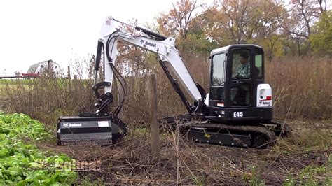 bobcat flail mower attachment youtube