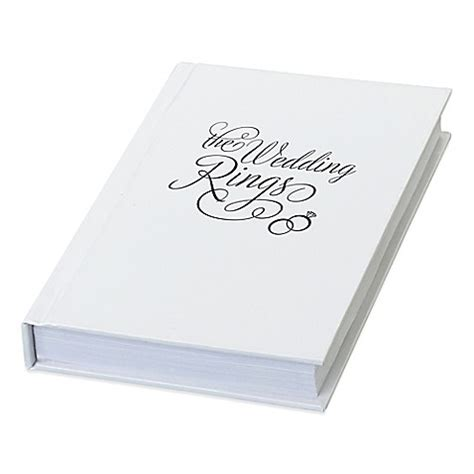 lillian rose quot the wedding rings quot book box bed bath beyond